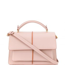 Marni contrast stripe tote bag - Pink