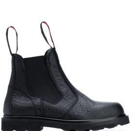 Marni logo pull tab Chelsea boots - Black