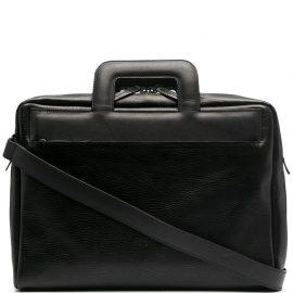 Marsèll embossed logo square handle laptop bag - Black