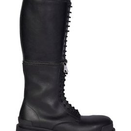 Master Convertible Knee-High Leather Combat Boots