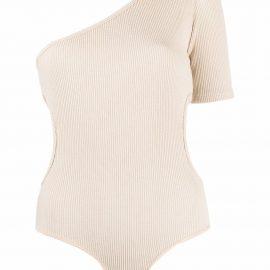 Materiel asymmetric one-shoulder bodysuit - Neutrals