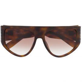 Max Mara D-frame oversized sunglasses - Brown
