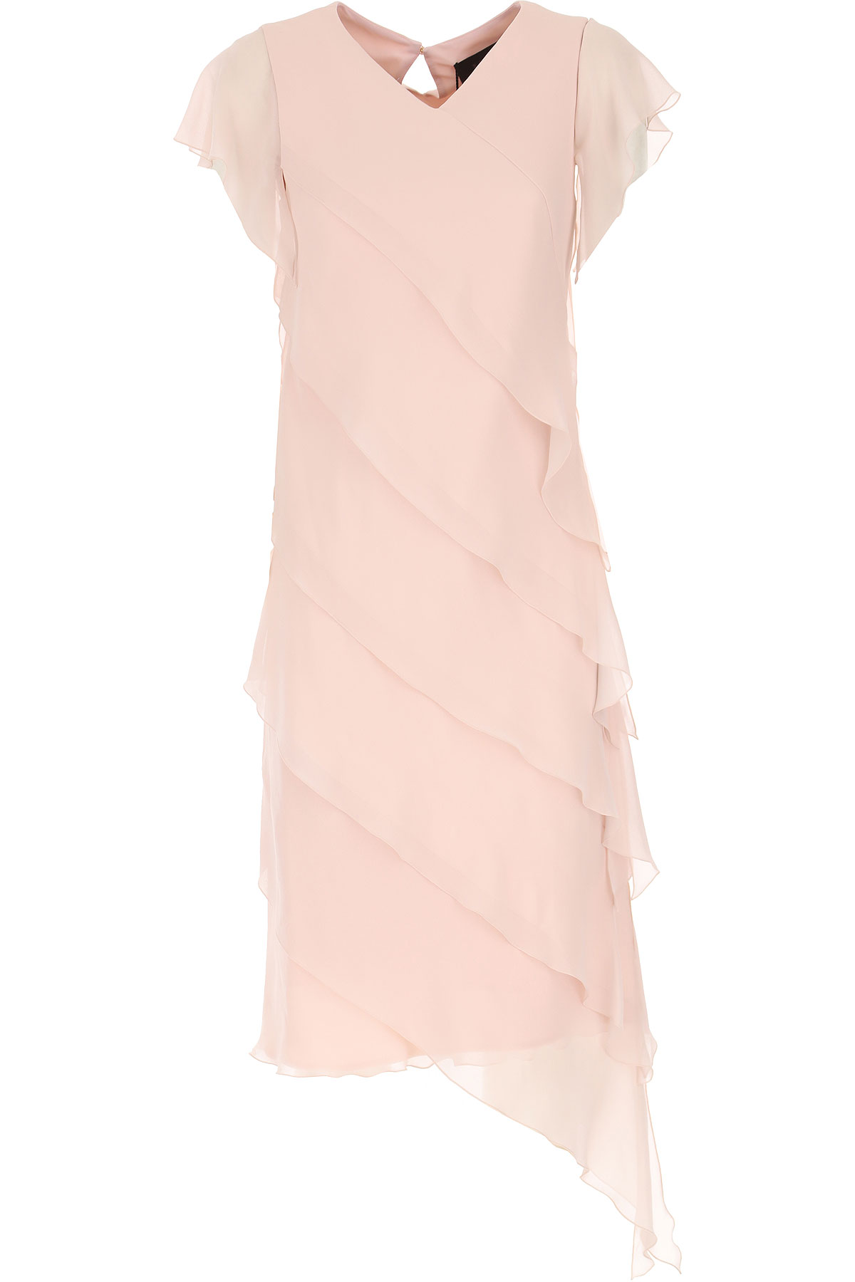 Max Mara Dress for Women, Evening Cocktail Party On Sale, soft pink, Silk, 2019, 12 6
