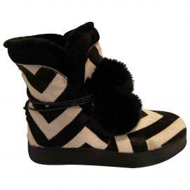 Max Mara Pony-style calfskin snow boots