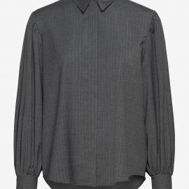 Melisa Shirt - grey pinstripe