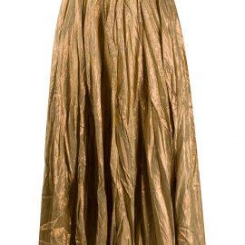 Mes Demoiselles metallic crinkled skirt - Gold