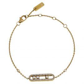 Messika Baby Move Pavé Diamond 18K Yellow Gold Bracelet
