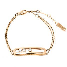 Messika Move Classique Diamond 18K Rose Gold Bracelet