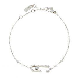 Messika by Gigi Hadid Move Addiction Pave Diamond 18K White Gold Bracelet