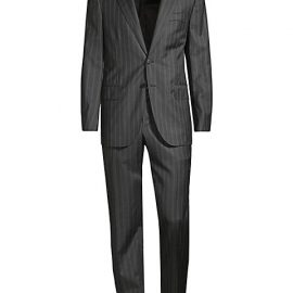 Microns Double-Stripe Classic-Fit Wool Suit