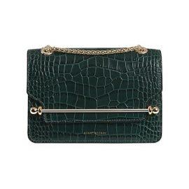 Mini East/West Croc-Embossed Leather Shoulder Bag