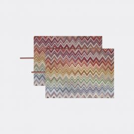 Missoni Tableware - 'Andorra' placemat, set of two, red in RED MULTICOLOR 100%CO