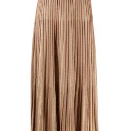 Missoni metallic-threading pleated skirt - Gold