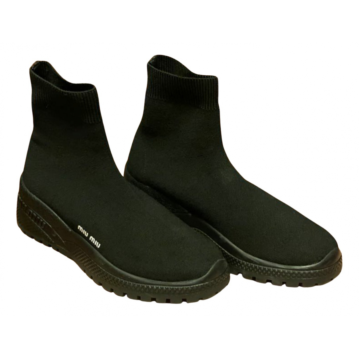 Miu Miu N Black Cloth Ankle boots for Women