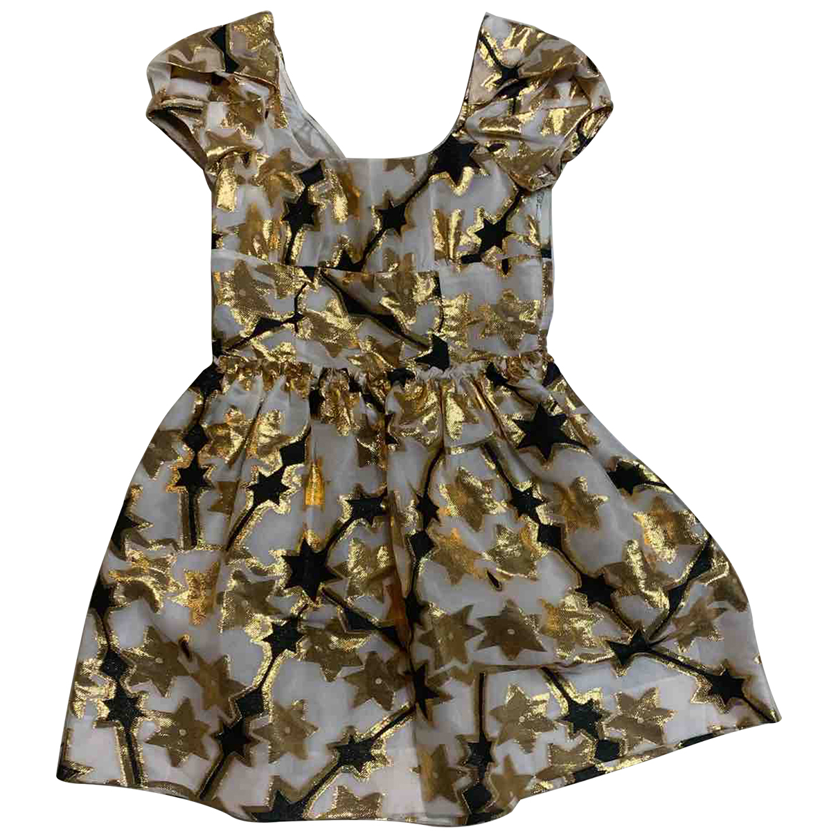 Miu Miu N Gold Silk Dress for Women