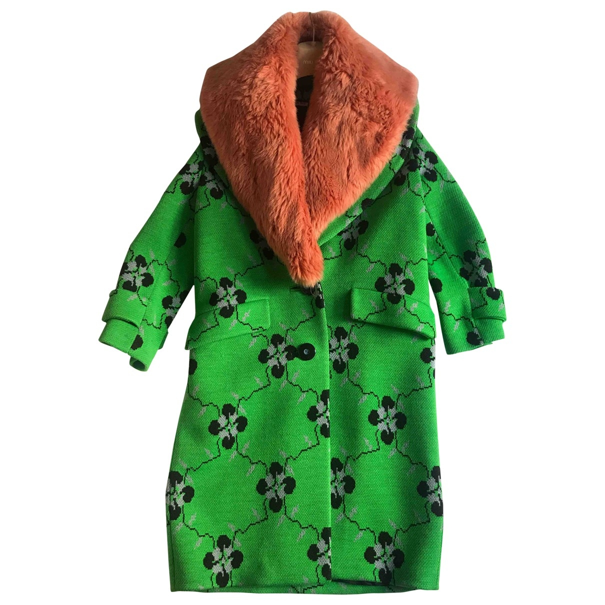 Miu Miu N Green Wool Coat for Women