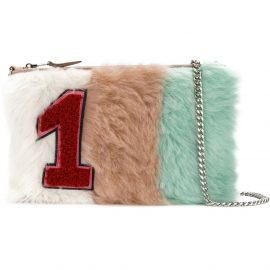 Miu Miu Pastel Shearling Patch clutch bag - Multicolour