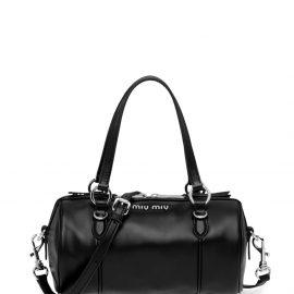 Miu Miu bandoleer style shoulder bag - Black