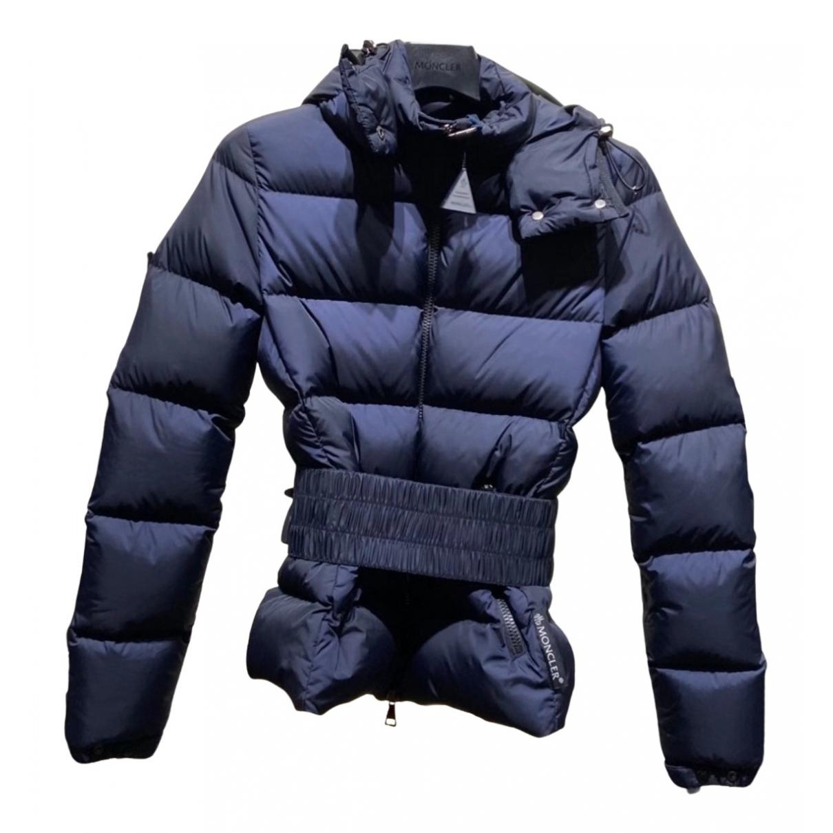 Moncler Hood Blue Coat for Women