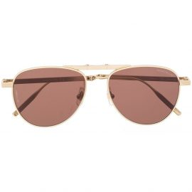 Montblanc aviator frame tinted sunglasses - Gold
