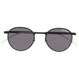 Montblanc round-frame tinted sunglasses - Black