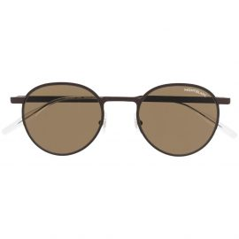 Montblanc round-frame tinted sunglasses - Brown