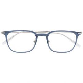 Montblanc square frame glasses - Blue