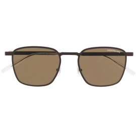 Montblanc square-frame tinted sunglasses - Brown