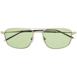 Montblanc square frame tinted sunglasses - Gold