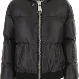 Moschino Down Jacket for Women, Puffer Ski Jacket On Sale, Black, poliammide, 2021, 10 12 8
