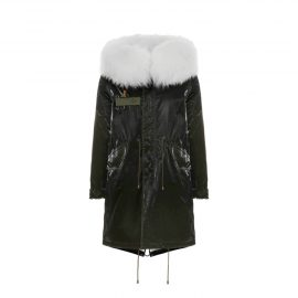 Mr & Mrs Italy Classic Jazzy Parka For Woman With Raccoon Fur