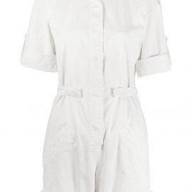 Mr & Mrs Italy workwear playsuit - White
