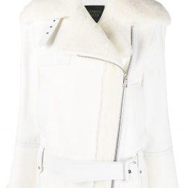 Mr & Mrs Italy x Elizabeth Sulcer aviator jacket - White