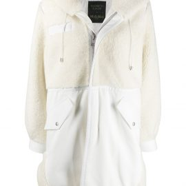 Mr & Mrs Italy x Elizabeth Sulcer hooded parka - White