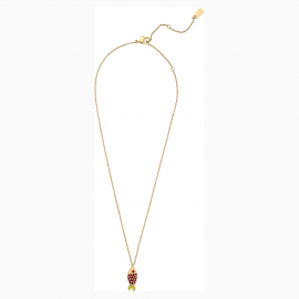 Mustique Sea Life Fish Pendant, Red, Gold-tone plated