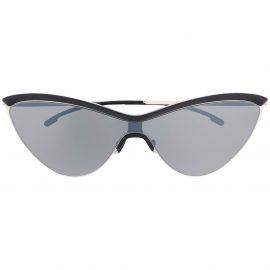 Mykita x Maison Margiela cat eye frame sunglasses - Black