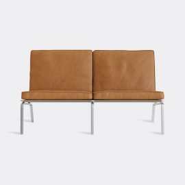 NORR11 Seating - 'The Man' two seat couch, cognac in Cognac Stainless Steel - Upholstered,