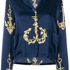 Natasha Zinko printed pyjama top - Blue