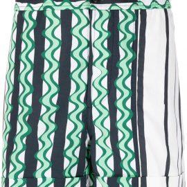 Neil Barrett abstract-print swim shorts - Green