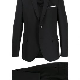 Neil Barrett single-breasted two-piece suit - Black