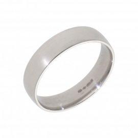 New Platinum 6mm Court Shaped Mens Wedding Ring