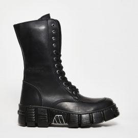New Rock Polish leather - black