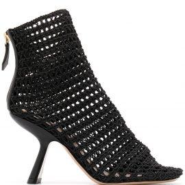 Nicholas Kirkwood Alba macramé ankle boots - Black