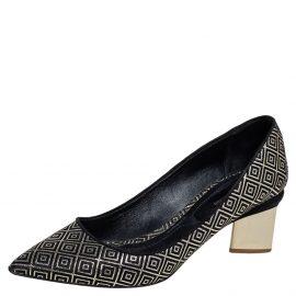 Nicholas Kirkwood Black/Gold Diamond Quilt Pattern Suede Pointed Toe Pumps Size 41