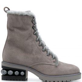 Nicholas Kirkwood Casati 35mm combat boots - Grey
