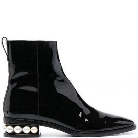 Nicholas Kirkwood Casati pearl-embellished ankle boots - Black