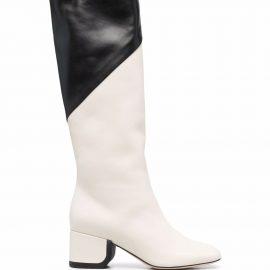 Nicholas Kirkwood JJ knee-high 55m boots - Neutrals
