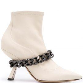 Nicholas Kirkwood Lea 90mm ankle boots - Neutrals
