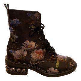 Nicholas Kirkwood Leather biker boots