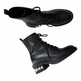 Nicholas Kirkwood Vegan leather biker boots